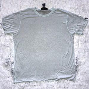 Rag and Bone Reversible SS T-Shirt Green/Grey XL